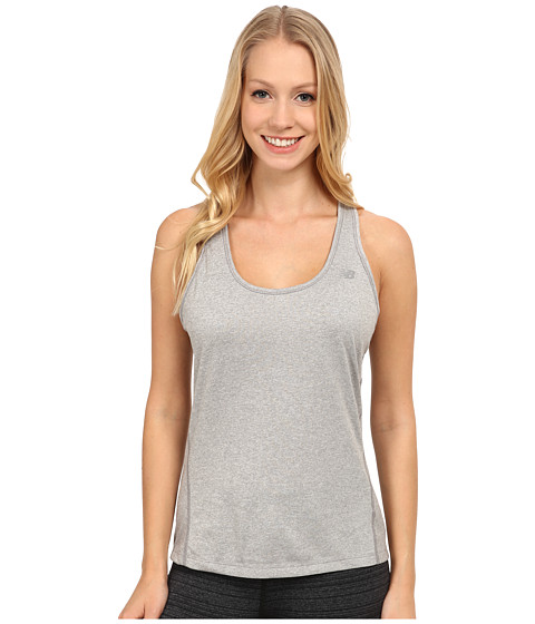 New Balance - Heathered Jersey Tank Top (Athletic Grey) Women