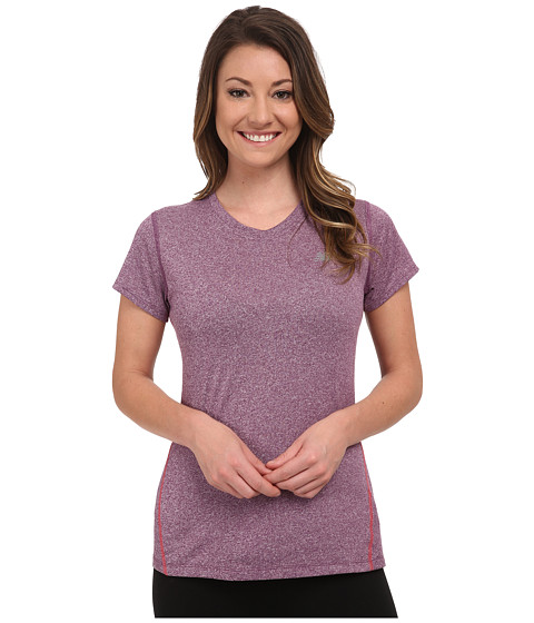 New Balance - Heathered Short Sleeve Tee (Imperial Purple Heather) Women's Short Sleeve Pullover