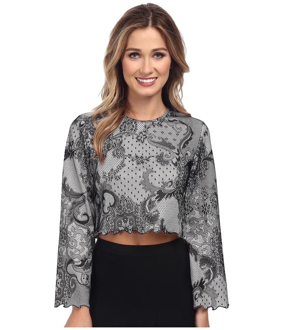 KAS New York - Axelia Lace Crop Top (Lace) Women