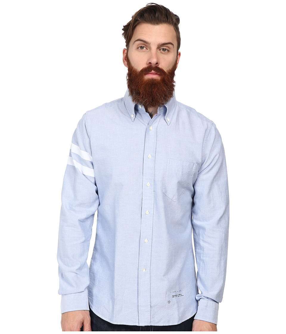 Gant Rugger - R. Kick Ass Oxford Hugger Original Button Down (Capri Blue) Men's Long Sleeve Button Up