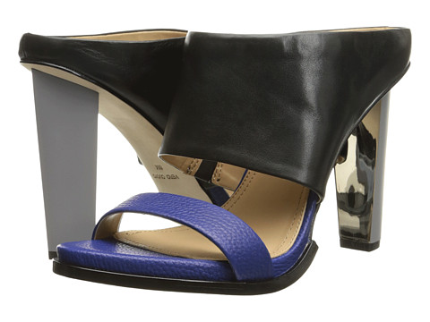 BCBGMAXAZRIA - Limber (Black/Cobalt Blue Calf Soft Tumbled Leather) High Heels