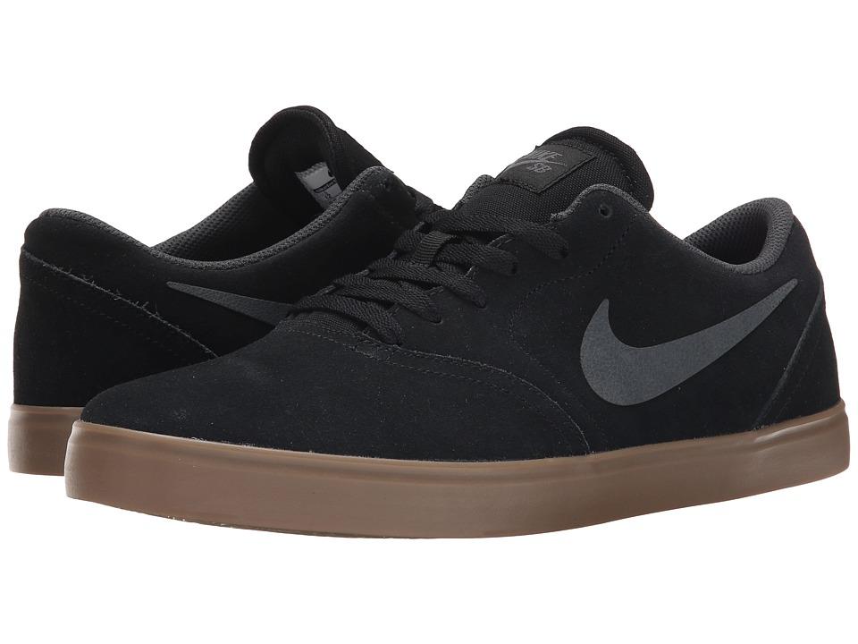 Nike SB - Check (Black/Gum Dark Brown/Anthracite) Men's Skate Shoes