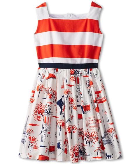 fiveloaves twofish - Race Me Dress (Toddler/Little Kids) (Tangerine) Girl