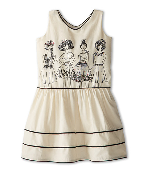 fiveloaves twofish - Girls Just Want To Have Fun Dress (Little Kids/Big Kids) (Ivory) Girl's Dress