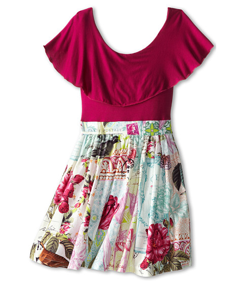 fiveloaves twofish - All In The Twirl Dress (Little Kids/Big Kids) (Berry) Girl's Dress