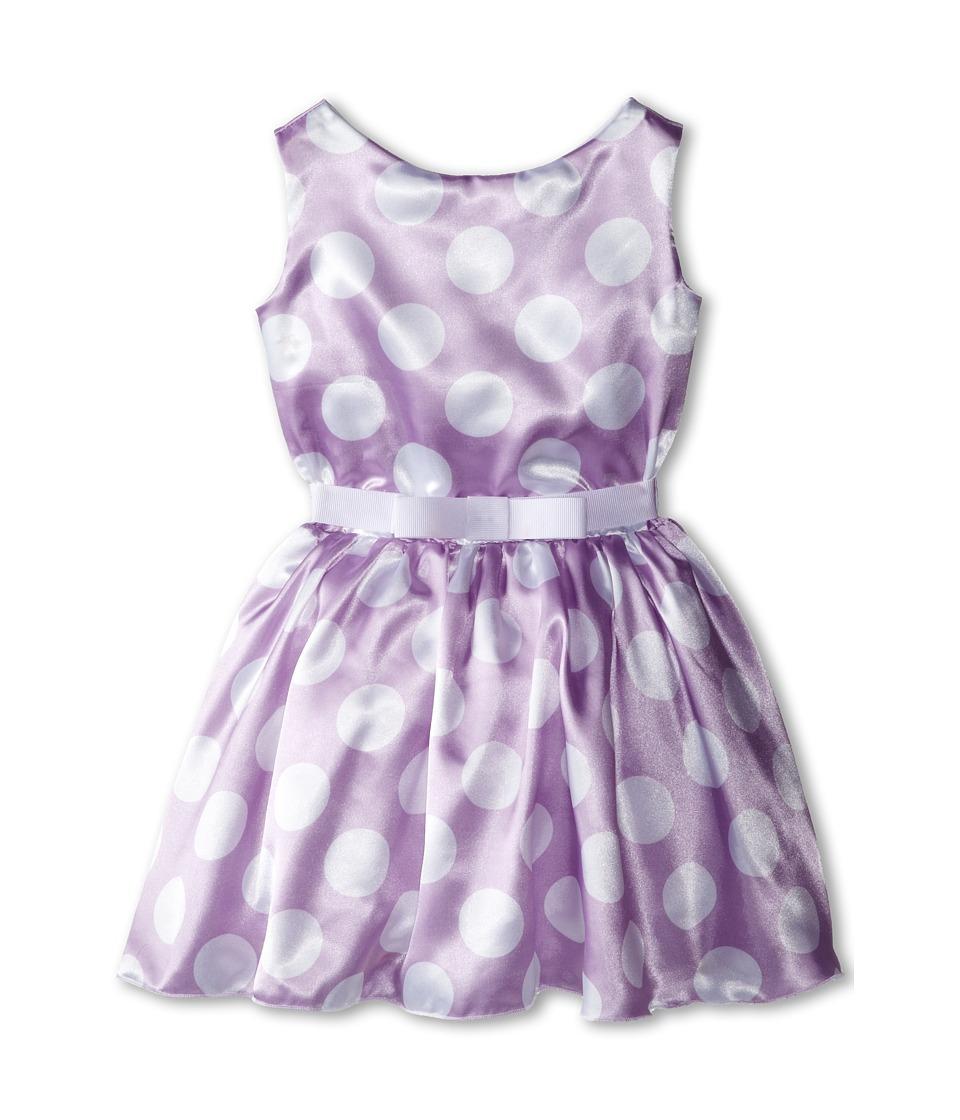 fiveloaves twofish - Polka Dot Party Dress (Little Kids/Big Kids) (Lavender) Girl