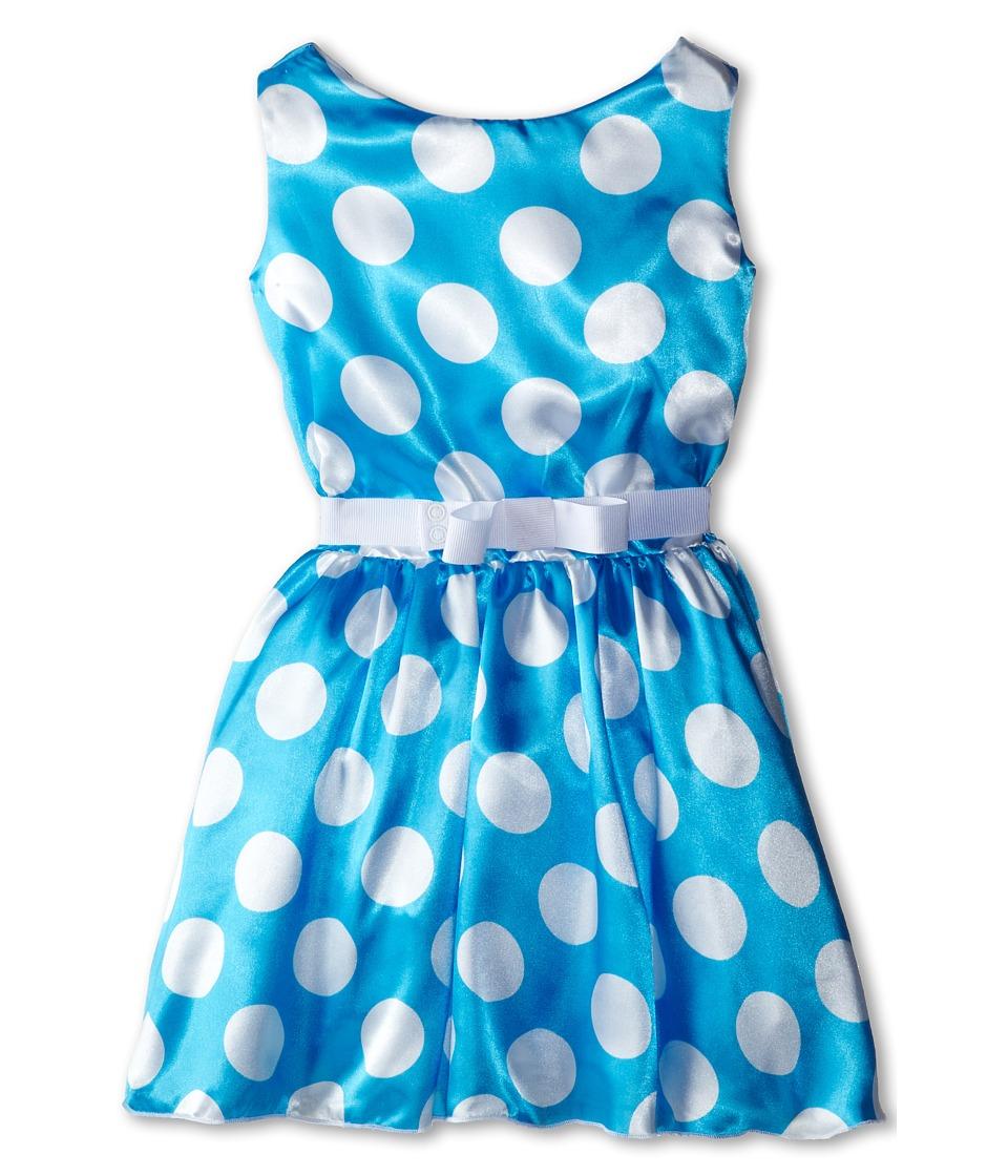 fiveloaves twofish - Polka Dot Party Dress (Little Kids/Big Kids) (Turq.) Girl's Dress
