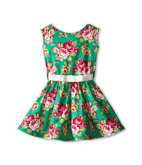 fiveloaves twofish - English Garden Party Dress (Little Kids/Big Kids) (Green) Girl