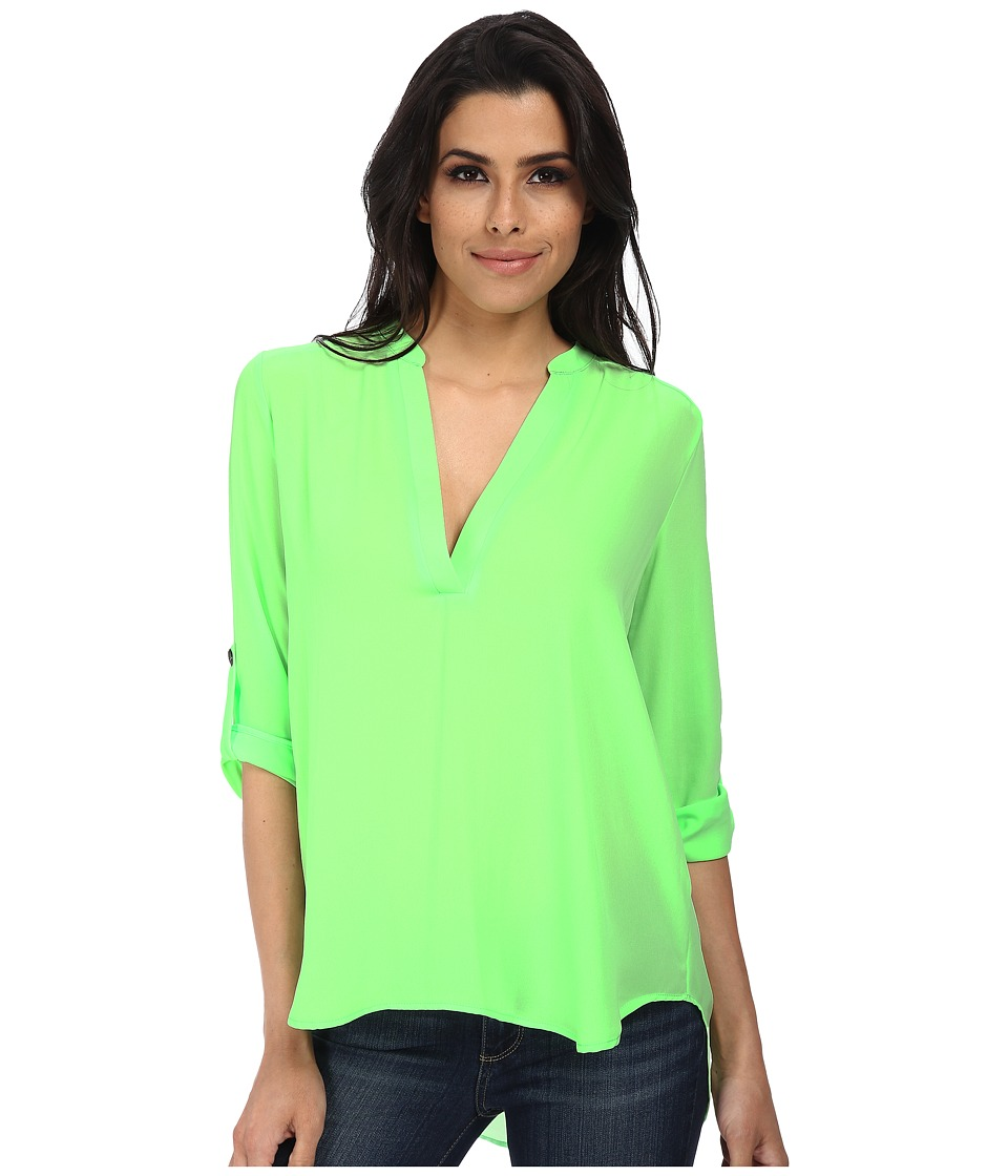 Brigitte Bailey - Channing V-Neck Blouse (Neon Lime) Women's Blouse