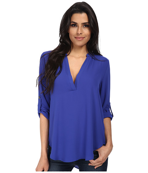 Brigitte Bailey - Channing V-Neck Blouse (Surf Blue) Women's Blouse