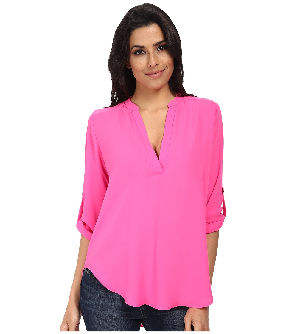 Brigitte Bailey - Channing V-Neck Blouse (Bright Orchid) Women