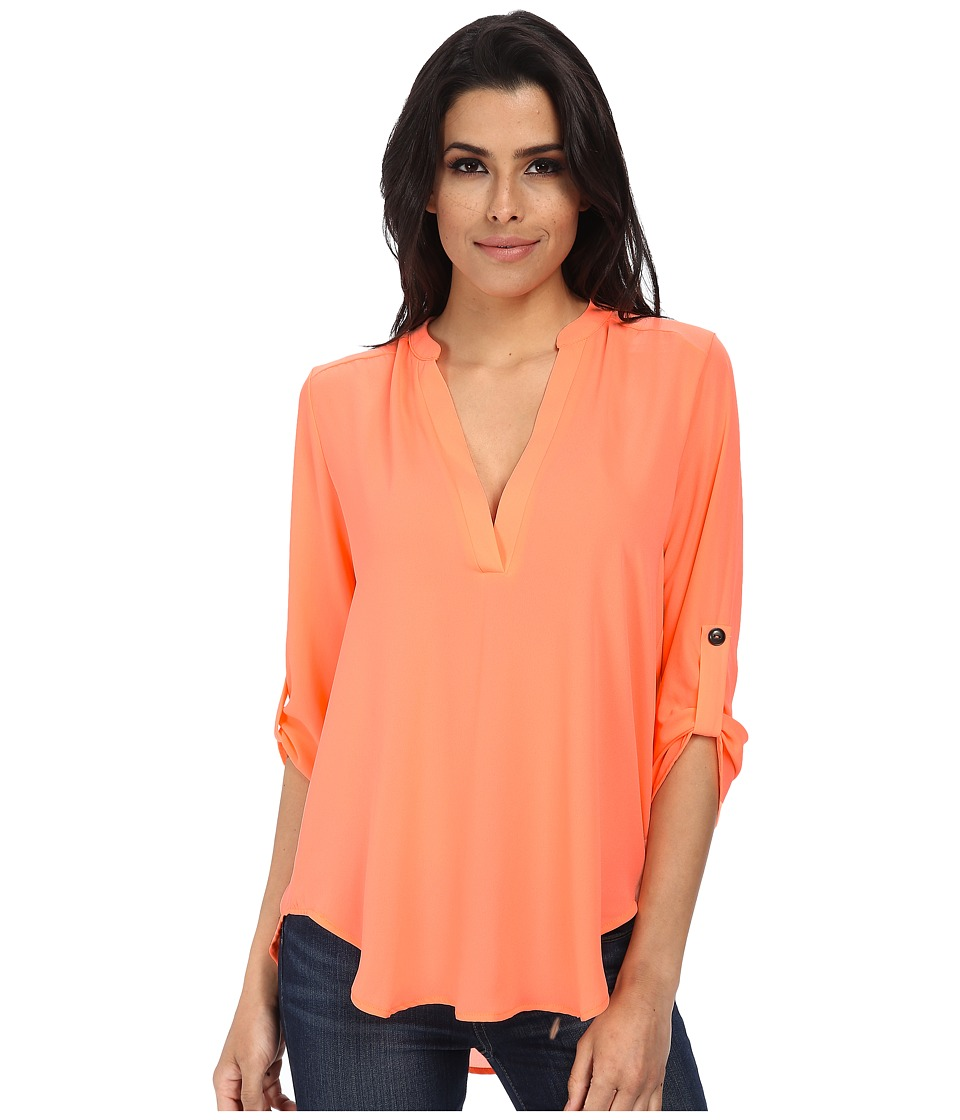 Brigitte Bailey - Channing V-Neck Blouse (Pop Coral) Women's Blouse