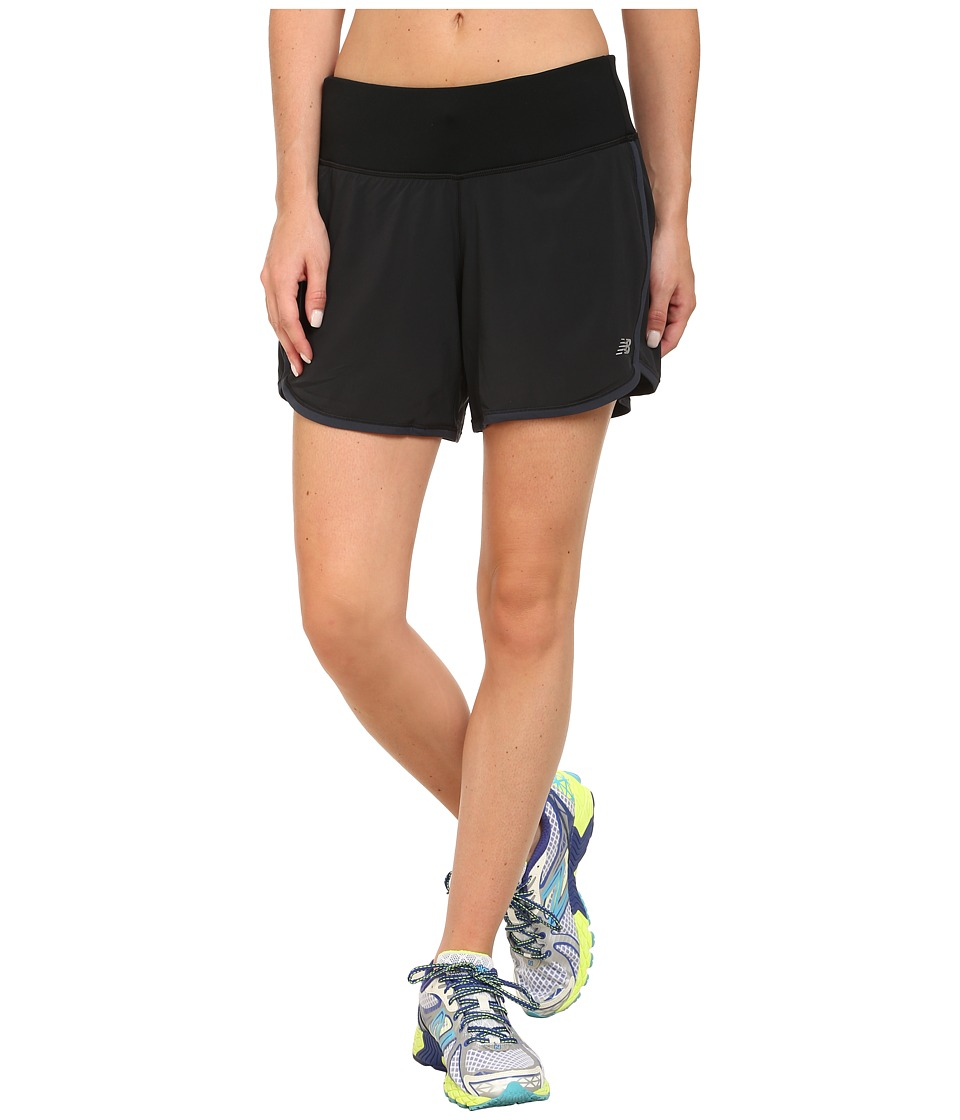 New Balance - Impact 5 2-in-1 Short (Black) Women's Shorts
