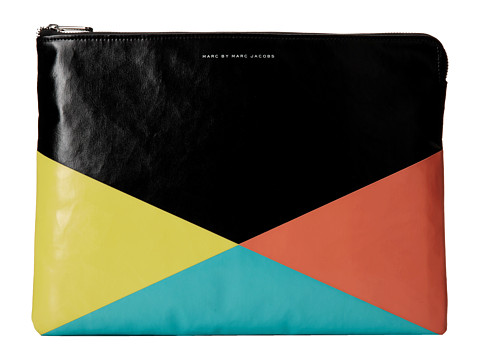 Marc by Marc Jacobs - Coated Neoprene 13 Zip Cutout Case (Black Multi) Computer Bags