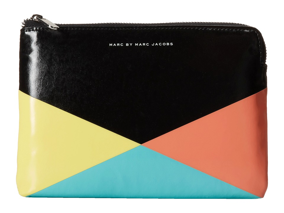 Marc by Marc Jacobs - Coated Neoprene Mini Tablet Zip Cutout Case (Black Multi) Computer Bags