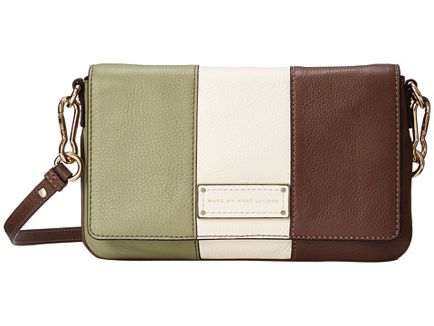 Marc by Marc Jacobs - Too Hot To Handle Color Blocked Flap Percy (Light Rosemary Multi) Cross Body Handbags