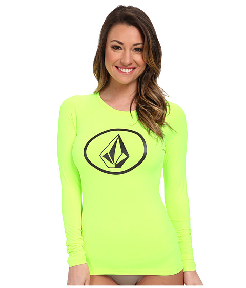Volcom - Simply Solid L/S Rashguard (Flash Yellow) Women's Swimwear