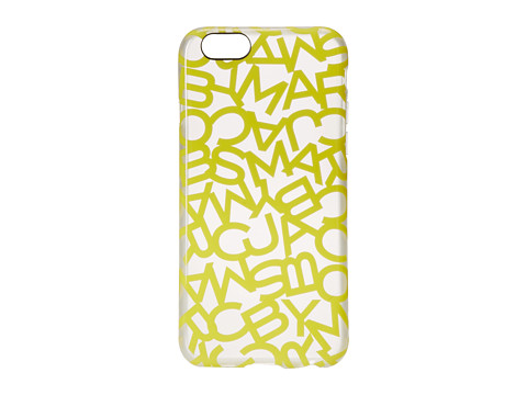 Marc by Marc Jacobs - Scrambled Logo iPhone 6 Case (Banana Cr me Multi) Cell Phone Case