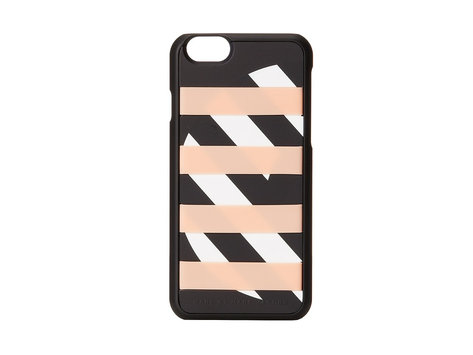 Marc by Marc Jacobs - Card Slot Donut Stripe iPhone 6 Case (Tropical Peach Multi) Cell Phone Case