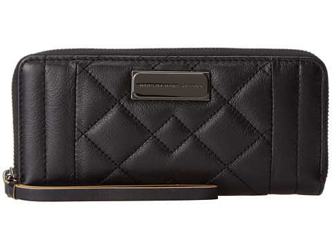 Marc by Marc Jacobs - Moto Quilted Slim Zip Around (Black) Wallet