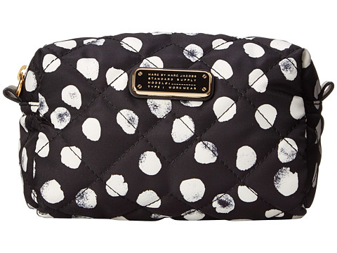 Marc by Marc Jacobs - Crosby Quilt Nylon Deelite Dot Large Cosmetic (Black Multi) Cosmetic Case