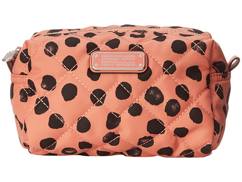 Marc by Marc Jacobs - Crosby Quilt Nylon Deelite Dot Large Cosmetic (Spring Peach Multi) Cosmetic Case