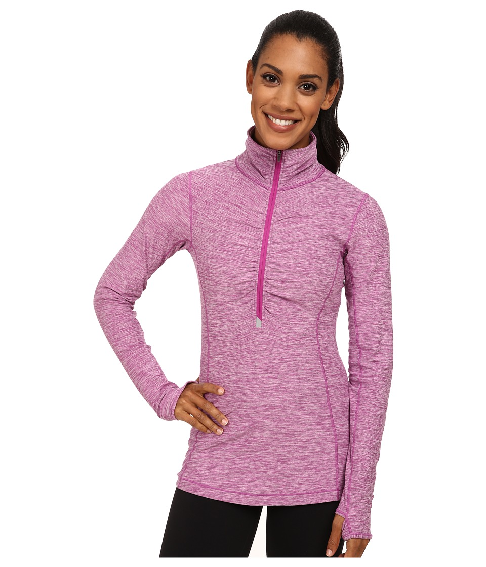 New Balance - In Transit Half Zip Jacket (Deep Orchid) Women's Long Sleeve Pullover