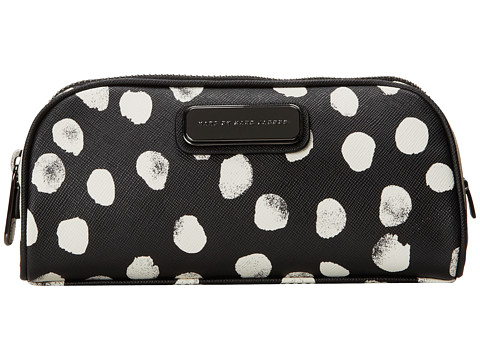 Marc by Marc Jacobs - Sophisticato Deelite Dot Black and White Cosmetics Lil Bliz (Black Multi) Cosmetic Case
