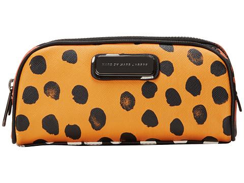 Marc by Marc Jacobs - Sophisticato Deelite Dot Cosmetic Lil Bliz (Sundance Orange Multi) Cosmetic Case