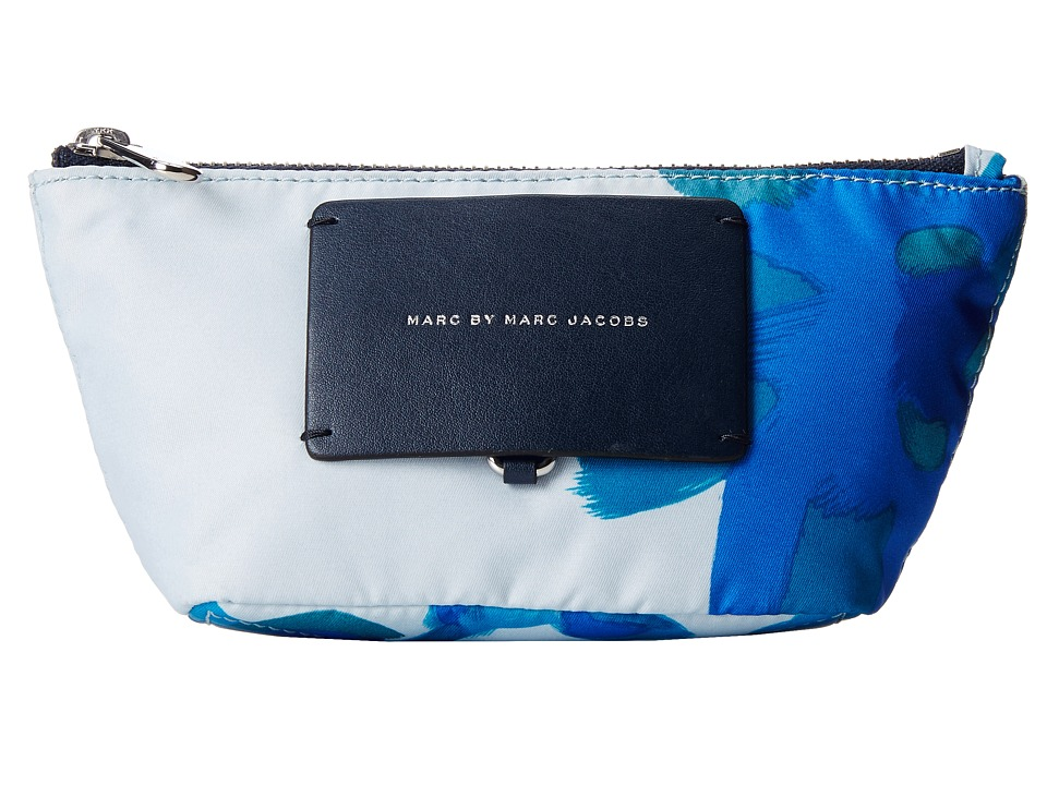 Marc by Marc Jacobs - Preppy Legend Painted Defaced Floral Cosmetic Small Perfect Pouch (Cloud Blue Multi) Cosmetic Case