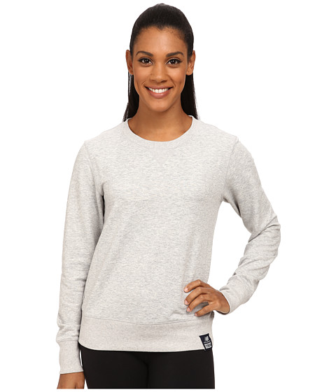 New Balance - French Terry Crew Neck Sweatshirt (Athletic Grey) Women