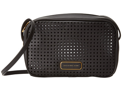 Marc by Marc Jacobs - Sally Perf Leather Handbag (Black) Handbags