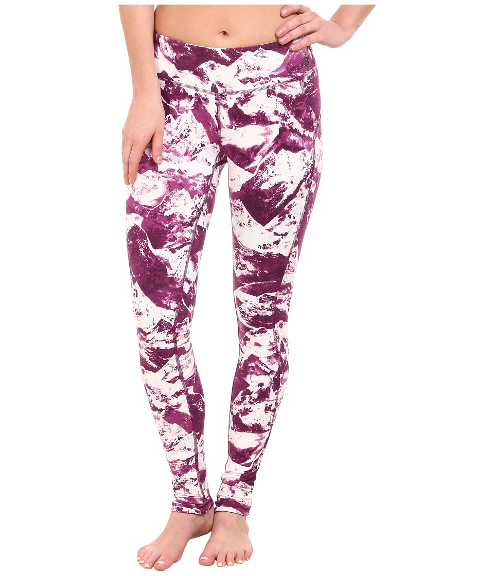 New Balance - Premium Performance Fitted Print Tight (Pink Mist/Imperial Purple) Women's Casual Pants
