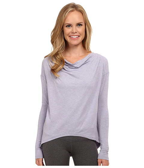 New Balance - Draped Layer Long Sleeve Top (Daybreak Heather) Women's Long Sleeve Pullover