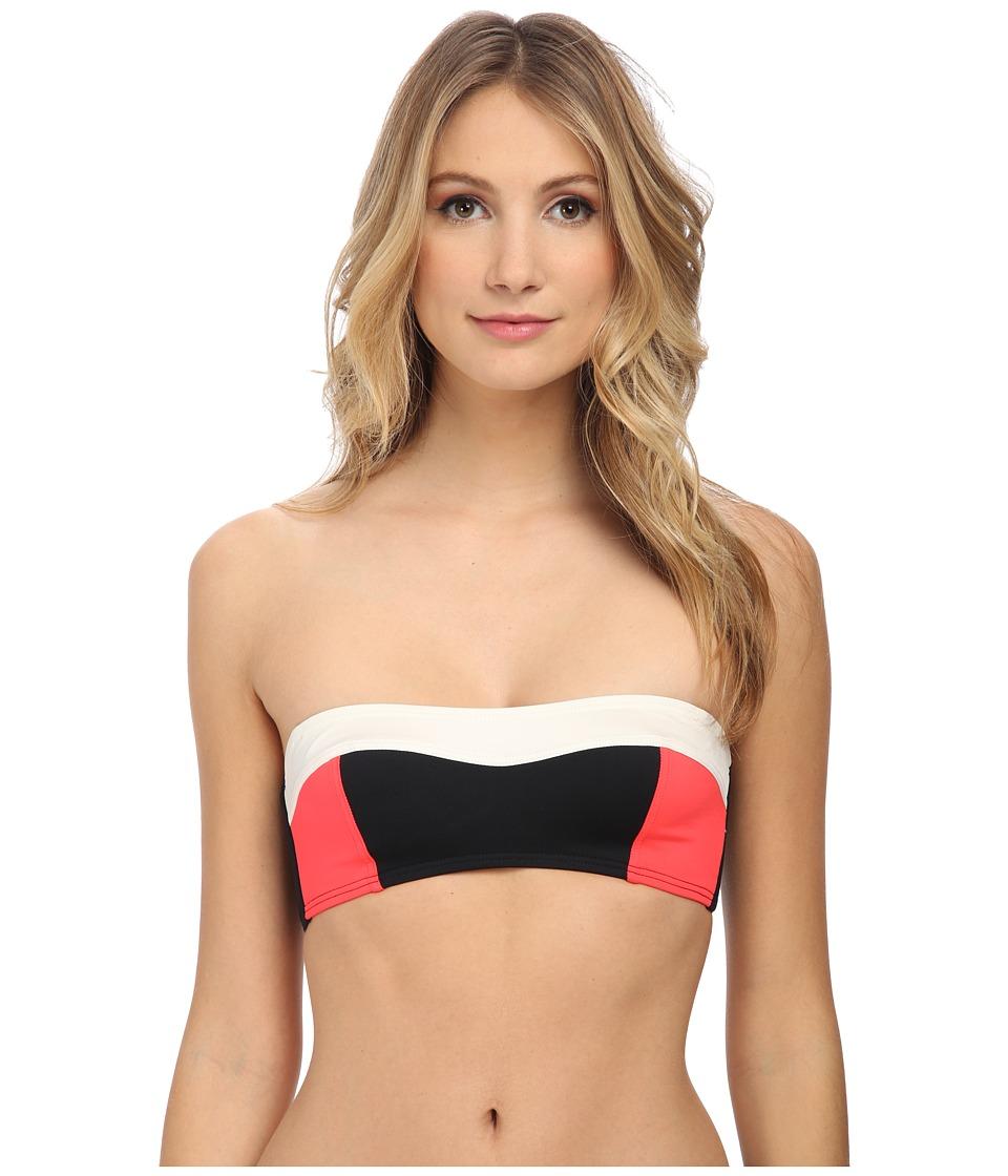 Kate Spade New York - Color Block Bralette (Black) Women's Swimwear
