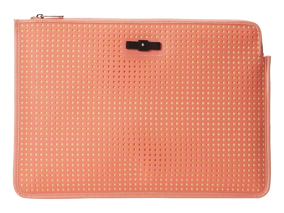 Marc by Marc Jacobs - Perforated Mesh 13 Zip Cutout Case (Spring Peach Multi) Computer Bags