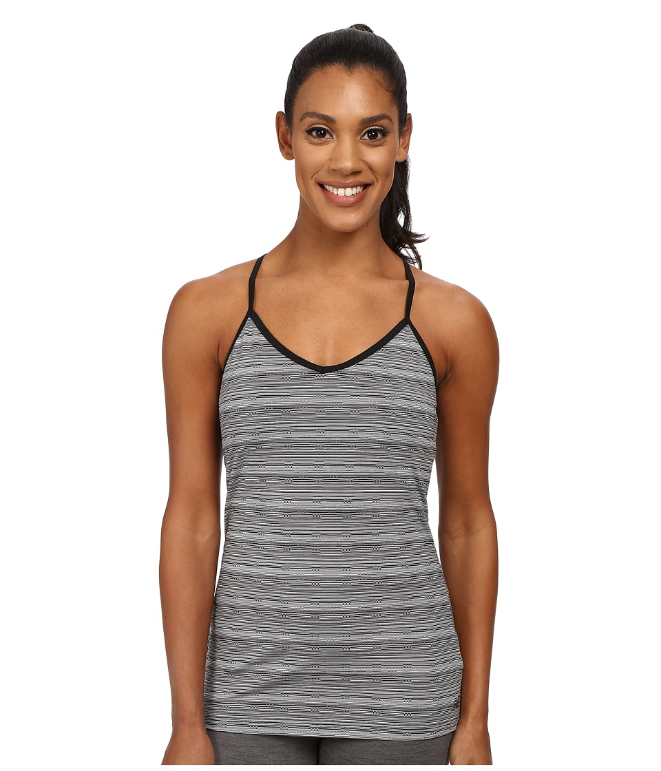 New Balance - Racerback Strappy Long Bra (Black/Multi) Women