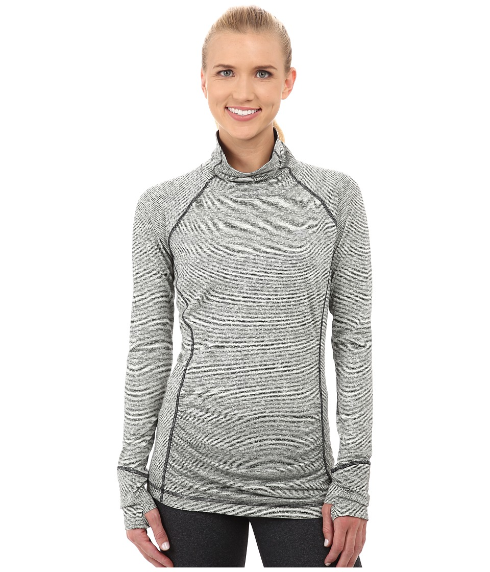 New Balance - Beacon Pullover (Black Heather) Women's Long Sleeve Pullover