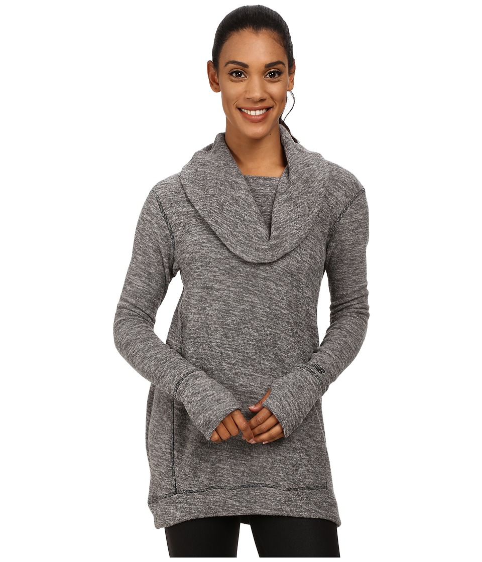 New Balance - Cozy Tunic Pullover (Black Heather) Women's Long Sleeve Pullover