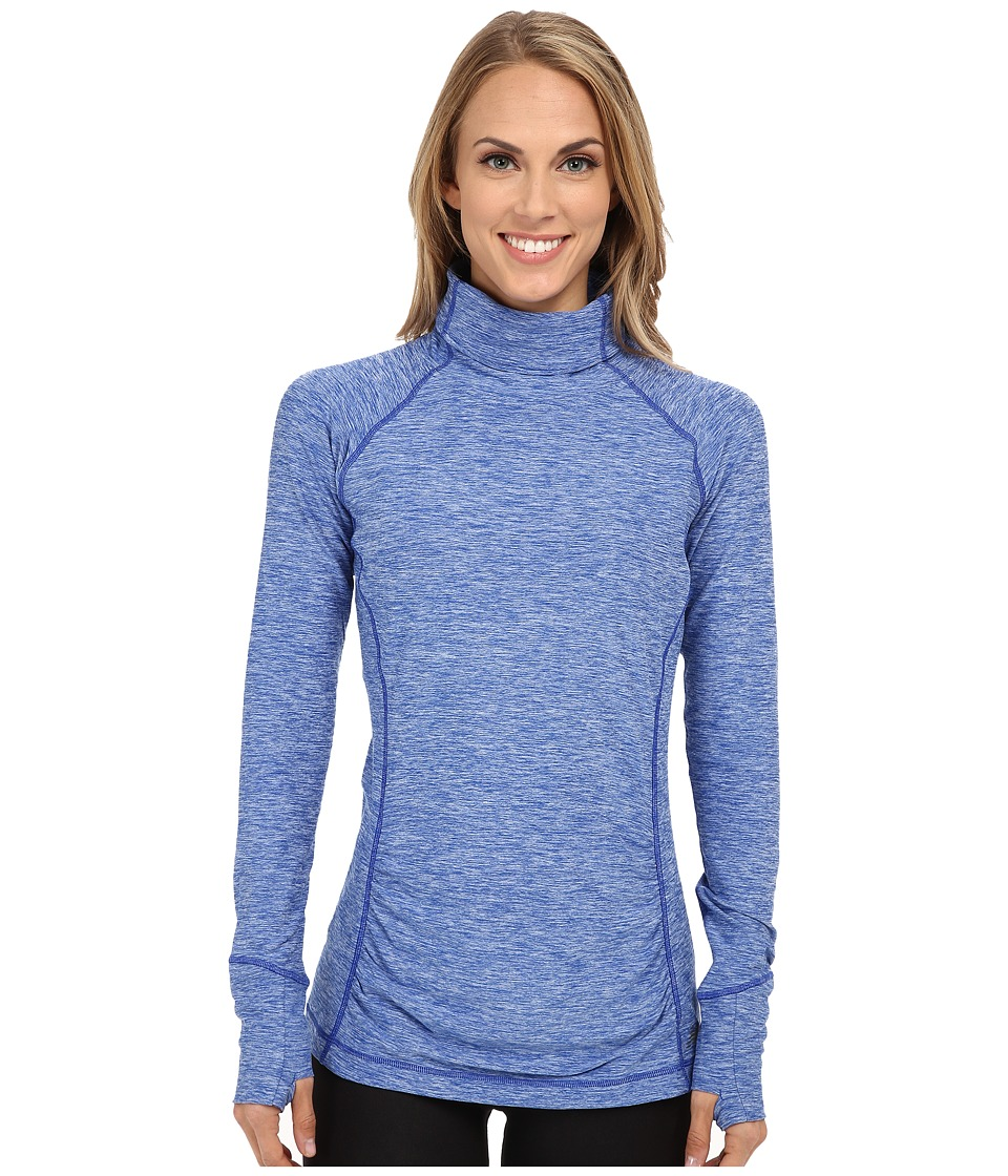 New Balance - Space Dye Knit Pullover (Ocean Blue Heather) Women's Long Sleeve Pullover