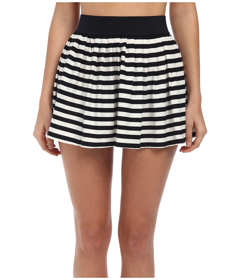 Kate Spade New York - Georgica Beach Stripes Cover-Up Skirt (Black) Women's Swimwear