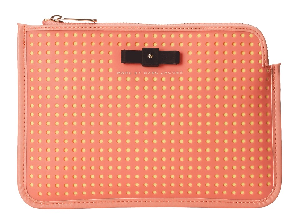 Marc by Marc Jacobs - Perforated Mesh Mini Tablet Cutout Case (Spring Peach Multi) Computer Bags