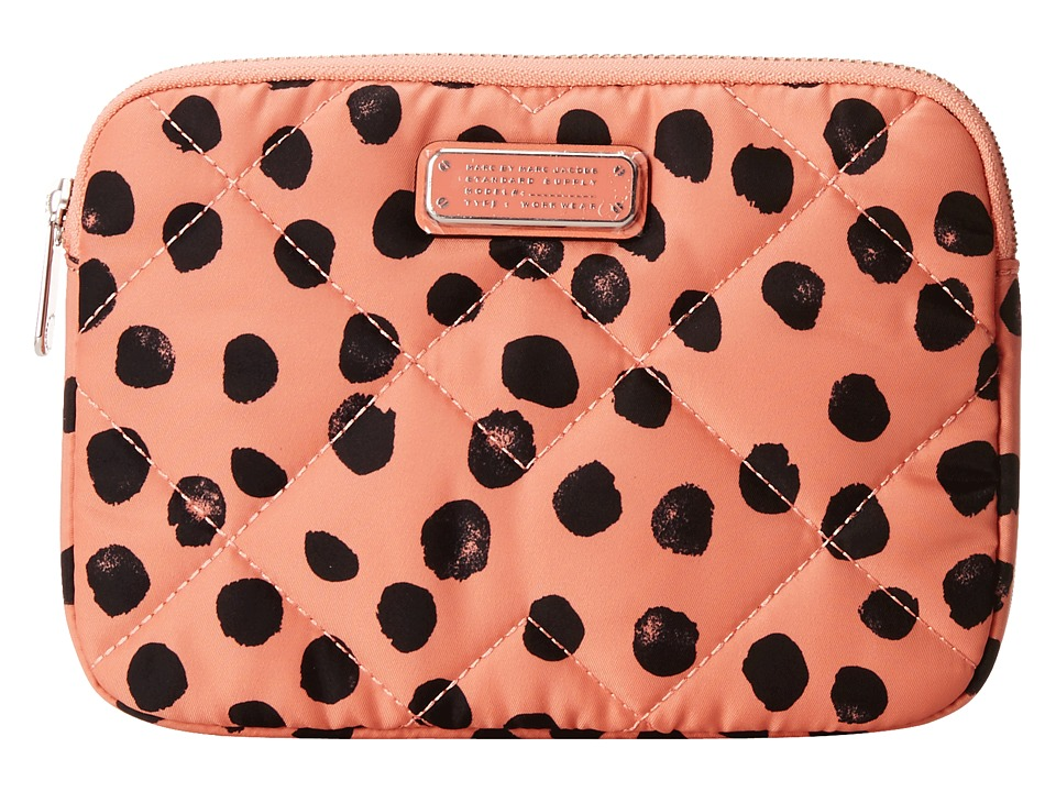 Marc by Marc Jacobs - Crosby Quilt Nylon Deelite Dot Mini Tablet Case (Spring Peach Multi) Computer Bags
