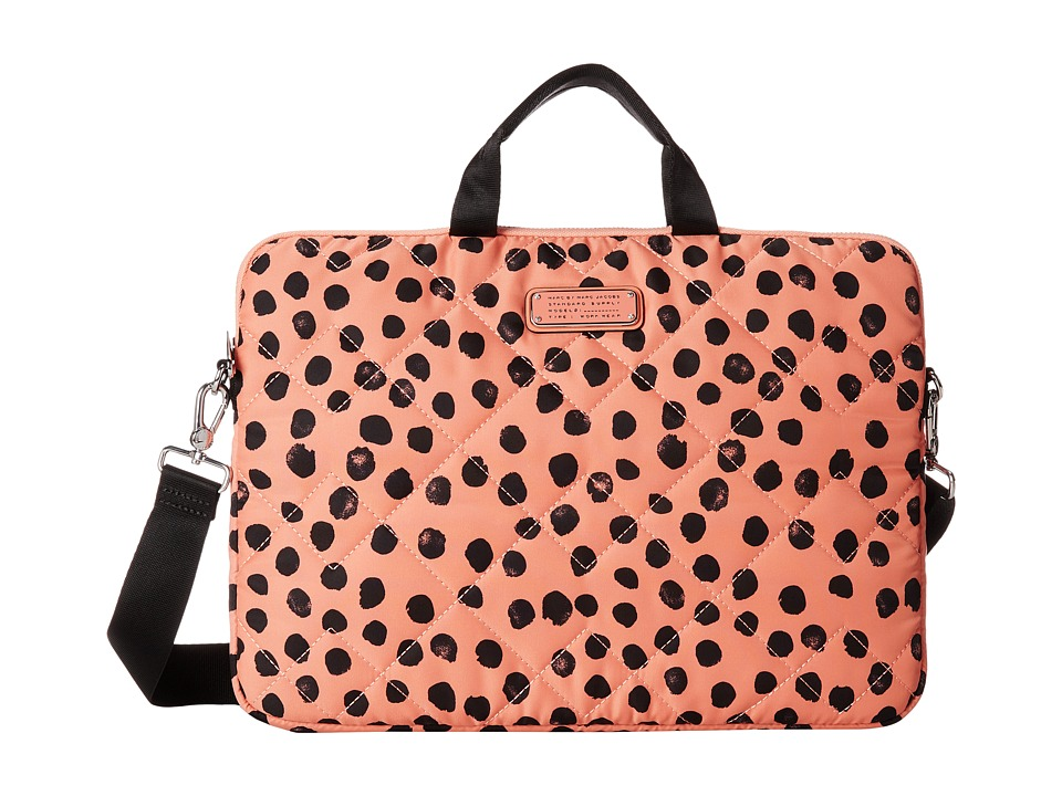 Marc by Marc Jacobs - Crosby Quilt Nylon Deelite Dot 15 Commuter Bag (Spring Peach Multi) Computer Bags