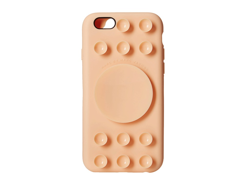 Marc by Marc Jacobs - Suction Cup iPhone 6 Case (Light Peach Multi) Cell Phone Case