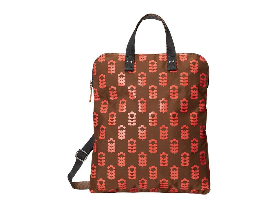 Orla Kiely - Foldover Tote (Coral Flash) Tote Handbags