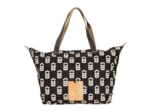 Orla Kiely - Zip Shopper (Liquorice) Tote Handbags