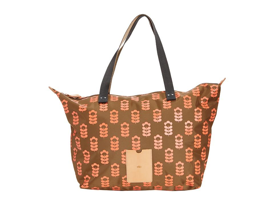 Orla Kiely - Zip Shopper (Coral Flash) Tote Handbags