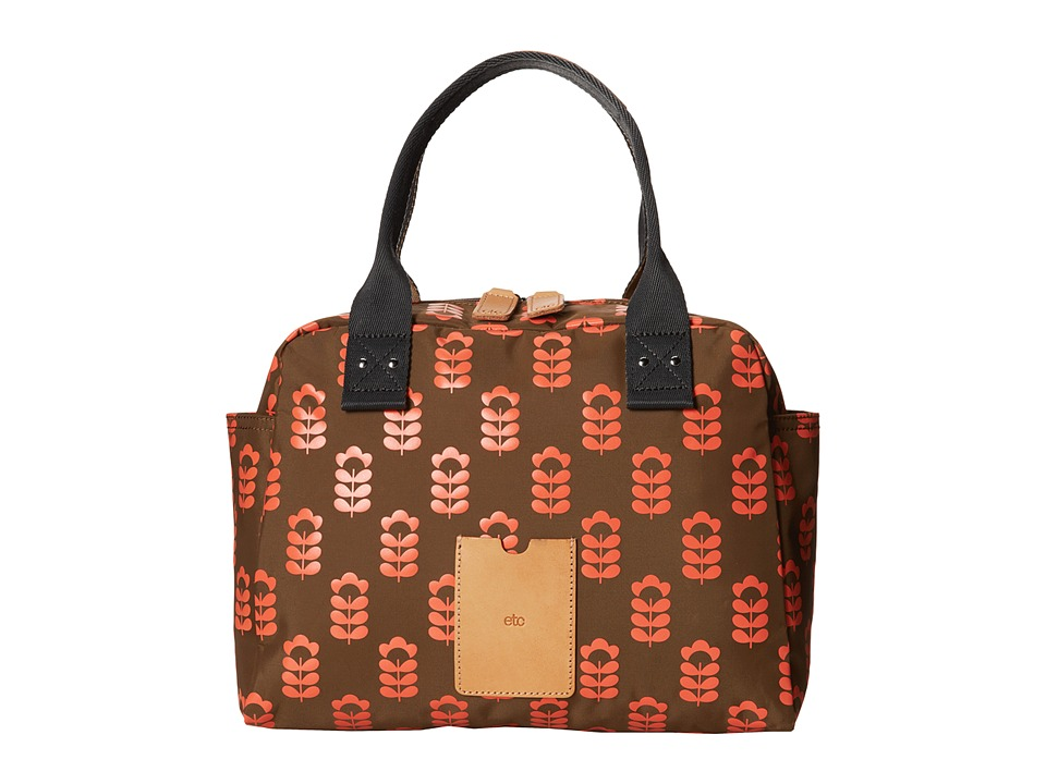 Orla Kiely - Zip Handbag (Coral Flash) Handbags