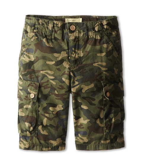 Lucky Brand Kids - Quality Camo Cargo Shorts (Big Kids) (Dusky Green) Boy's Shorts